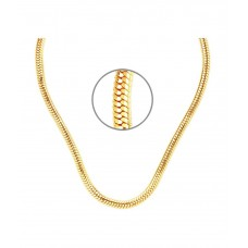 GoldNera Alloy Gold Plated Mens Chain - 18 inch